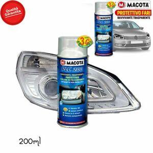 Macota Plc 200 Ravivant Transparent Phares de Protection Vernis Spray 200/400ml