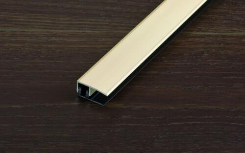 Holzfarben 12,5-18mm Proline Proclip Abschlussprofil 270cm versch Metall- u