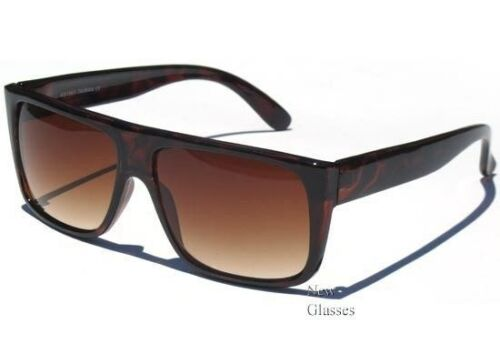 FLAT TOP Retro SUNGLASSES FRAME Hipster Gradient Lens Unisex Sunnies Shades