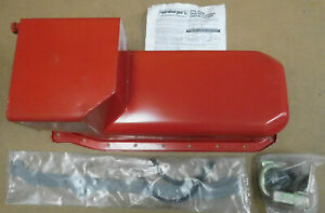 Hamburger-1109-Econo-Series-Steel-Oil-Pan-SB-Chevy-7qt-Cap-Painted-8-034-Deep