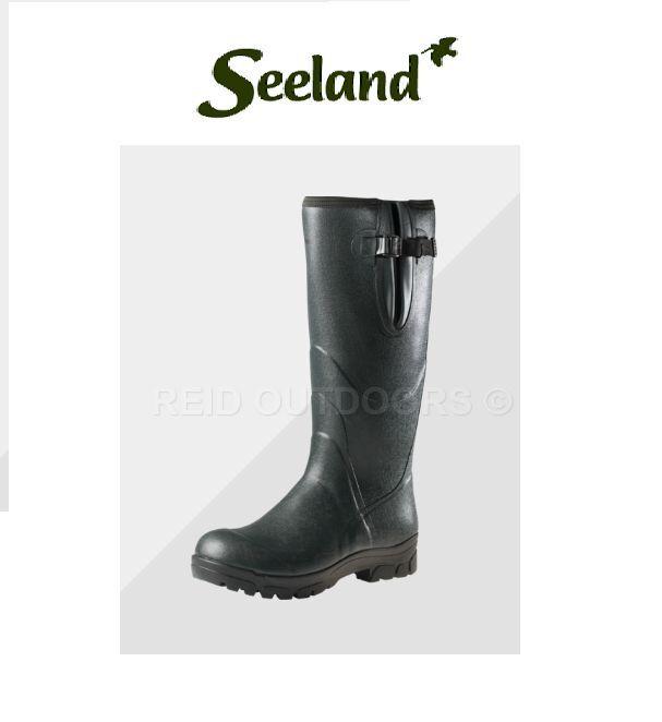 Seeland Allround 18  4mm Neoprene Wellington Boots - (Dark Green) Hunting