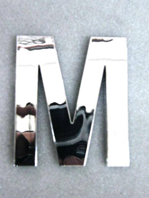 extra grosse Buchstaben M verchromt chrom Buchstabe Initialen groß