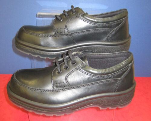 Toetec Safety Shoes - Black Leather Lace Up Shoe - 1001