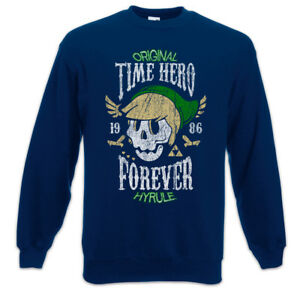 Games Pullover Forever Gaming Time Hyrule Skull Sweatshirt Fun Hero Gamer UPTtwSq0
