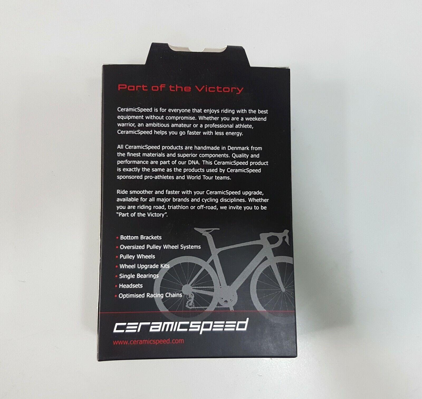 CeramicSpeed T45 Campy UT Bicycle Cycle Bike Bottom Bracket Black