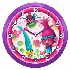 Official Dreamworks Trolls Bedroom Play Room Girls Wall Clock - Boxed Gift
