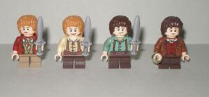 Herr der Ringe Hobbits 2x Frodo und 2x Bilbo mit Zubehör Zabawki konstrukcyjne LEGO Zabawki konstrukcyjne Lego Der Hobbit