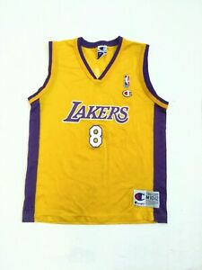 Details about Vintage Champion Los Angeles Lakers Kobe Bryant Jersey Youth Medium M 10-12