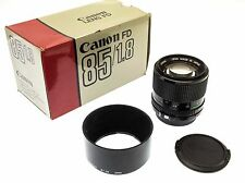 Canon FD 85mm f/1.8 Prime Lens - Boxed with BT-52 Lens Hood
