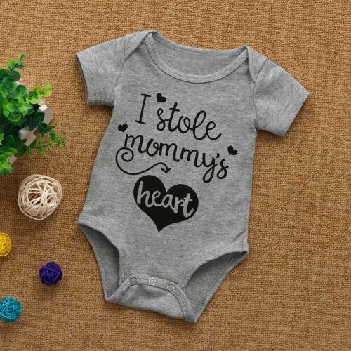 Summer Toddler Infant Baby Boy Girls Letter Short Sleeve Romper Playsuit Clothes