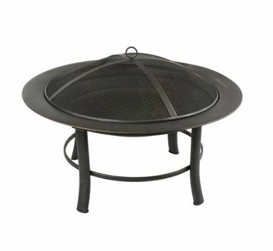 Mainstays Outdoor Freestanding 28-inch Steel Fire Pit with ... on Zeny 24 Inch Outdoor Hex Shaped Patio Fire Pit Home Garden Backyard Firepit Bowl Fireplace id=33473