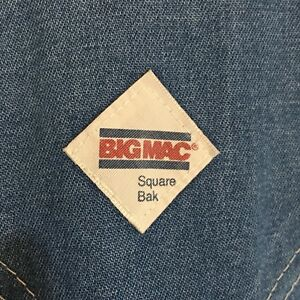 Vintage-Big-Mac-Square-Bak-Denim-Bib-Overalls-Mens-Blue-Jean-See-Measurements