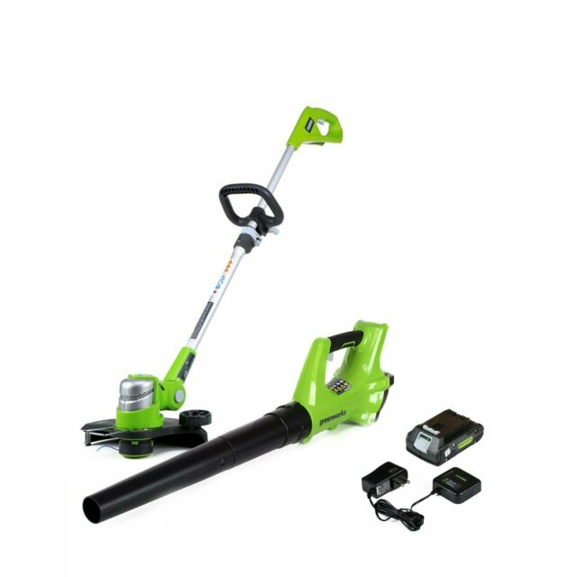 Battery Operated Weed Eater >> Cordless Weed Eater Battery Powered Leaf Blower Combo Kit Yard Tools For Men Set