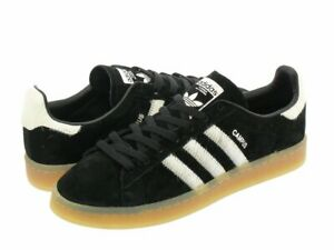 Hommes-Adidas-Originals-Campus-en-peau-de-porc-Poil-De-Poney-Noir-Blanc-BZ0071-SZ-5-13-DS