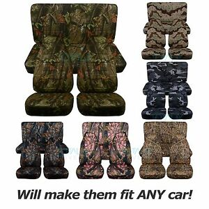 Image Is Loading Camouflage Car Seat Covers Full Set Semi Custom