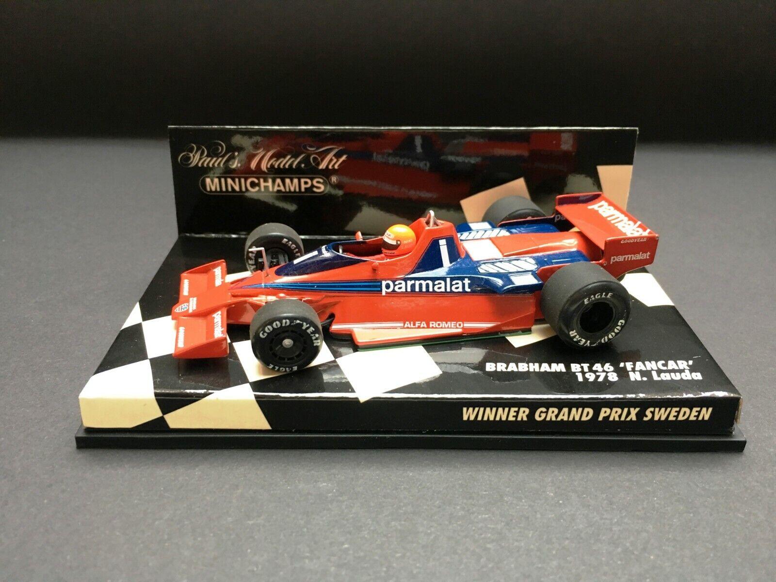 Minichamps - Niki Lauda - Brabham- BT46 fancar - 1978- Winner Swedish GP - 1 43