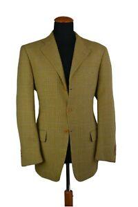 Nazareno-Ruggeri-Sakko-Gr-50-Wolle-beige-Karierte-size-40R-UK-XO4