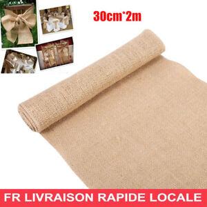 De-Tissu-30cm-2m-Jute-Toile-De-Jute-ameublement-Craft-Pour-mariage-Decoration