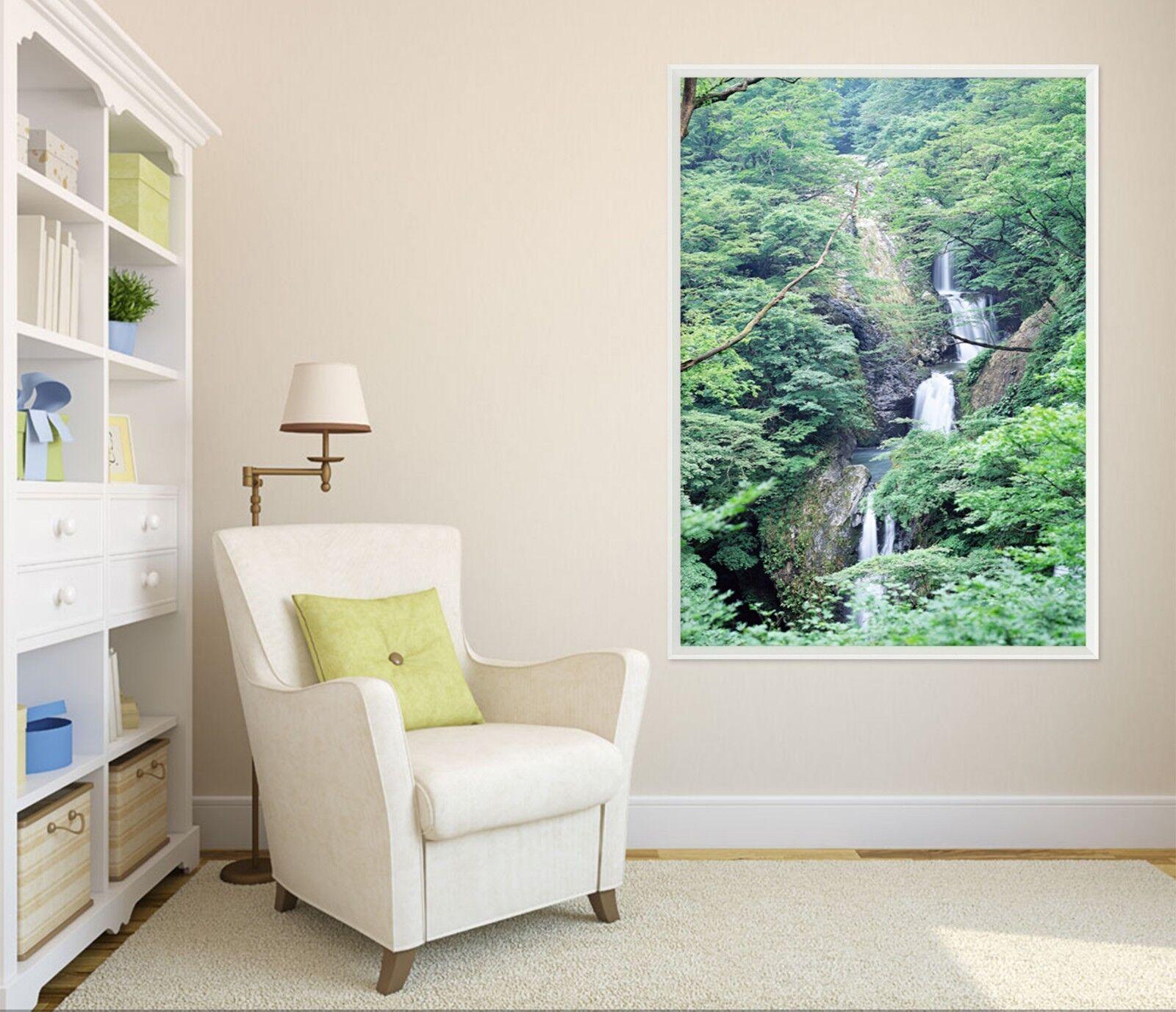 3d flambaient rivière 6 Encadré Poster à la maison décor imprimer peinture art AJ
