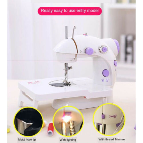 Portable Mini Sewing Machine with Extension Table Dual Speed for Travel