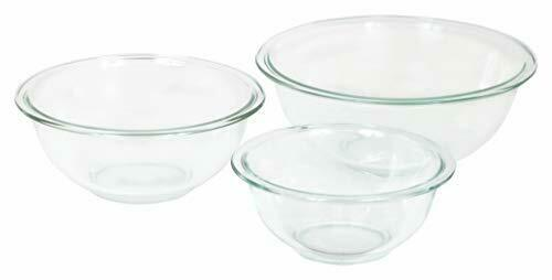 3-Piece Set, Nesting, Microwave and Dishwasher Safe Glass Mixing Bowl Set