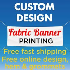 2' x 9' Custom Banner Fabric  Full Color Free Online Design (no Vinyl)