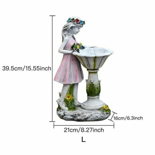Flower Fairy Resin Figure Sculpture Girl Statue Gardening Landscape Ornaments