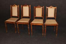 Stuhl bürgerlich 4 Stühle Louis Philippe Gründerzeit Buche #2363