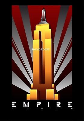 TRAVEL POSTER Empire State Building NYC