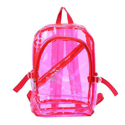ravel Bag Clear Unisex Transparent School Security Backpack Book Bag Plastic
