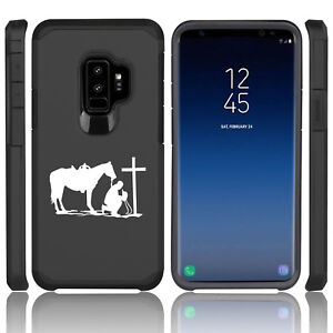 For-Samsung-Galaxy-S9-S9-Shockproof-Hard-Soft-Case-Cowboy-Praying-Cross-Horse