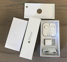 IPHONE 6 SILVER EMPTY RETAIL BOX COMPLETE FULL ACCESSORIES KIT 16GB 64GB 128GB