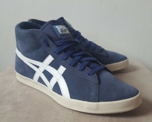 new style ce30f 381d0 Details about Asics Onitsuka Tiger 38 UK 4.5 Navy Womens Girls Boots Hi Top  D3X8L Trainers