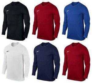 Nike-Boys-Long-Sleeve-Shirts-Kids-Park-VII-Sports-Football-Training-Tops-T-Shirt