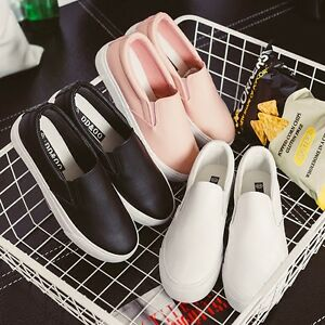 Fashion-Korean-Women-Girl-Leather-Casual-Flats-Oxfords-Loafer-Slip-On-Shoes