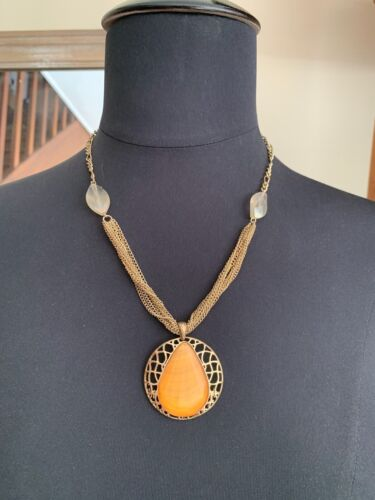 Vintage French Modernist Art Deco silver and hematite Pendant /& chain necklace Boxed