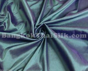 TEAL GREEN SHOT BLUE 100/% SILK METALLIC FABRIC BRIDESMAID DRESS SUIT BLOUSE BTY