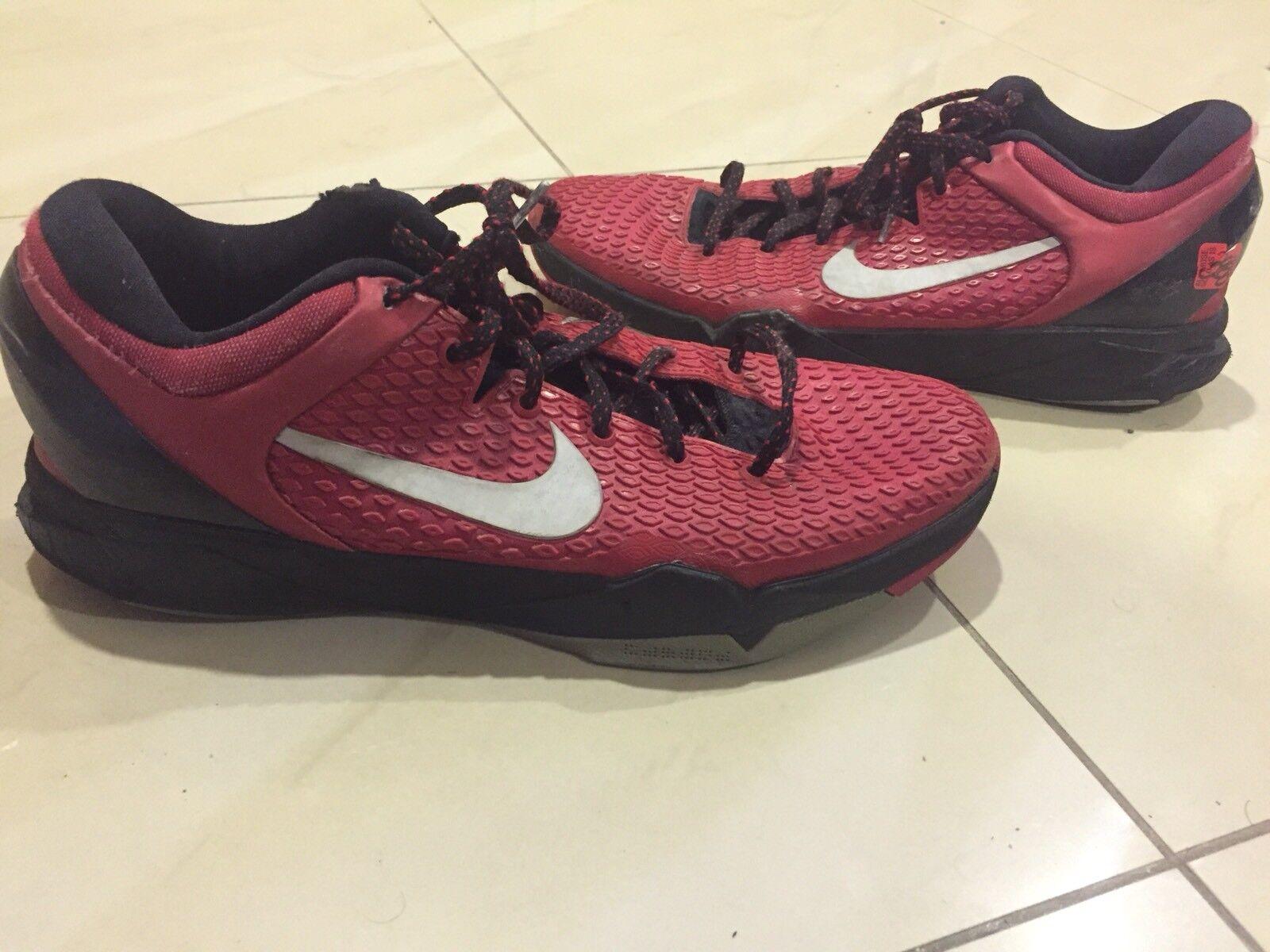 NIKE Zoom Kobe VII System TB Gym Red Black Mamba Elite Textured 7 Size 13