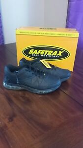 28004bfb95b19 Safetrax Women's Jazz Black Work Shoe Slip Resistant Memory Foam ...