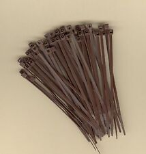 100 4 Inch Long 18 Pound Brown Nylon Cable Ties Zip Ties Ty Wraps Made In Usa