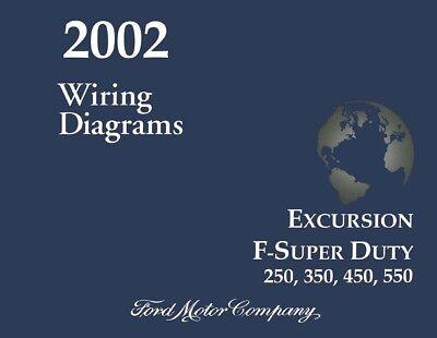 2001 Ford Excursion F-Super Duty F250-F550 Wiring Diagrams Schematics