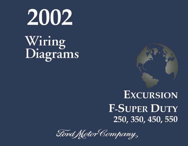 2002 Ford Excursion  U0026 Super Duty Truck Factory Wiring