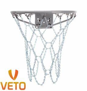 Basketball-Metal-Chain-Net-Heavy-Duty-12-Loop-Steel-Official-Size-Rims-Goal-Hoop