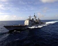 8x10 Photo: Uss Bunker Hill, Ticonderoga Class Guided Missile Cruiser Ship