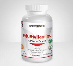 Multivitaminas-y-Minerales-Formula-240-Tabletas-Hecho-en-Reino-Unido-Futurevits