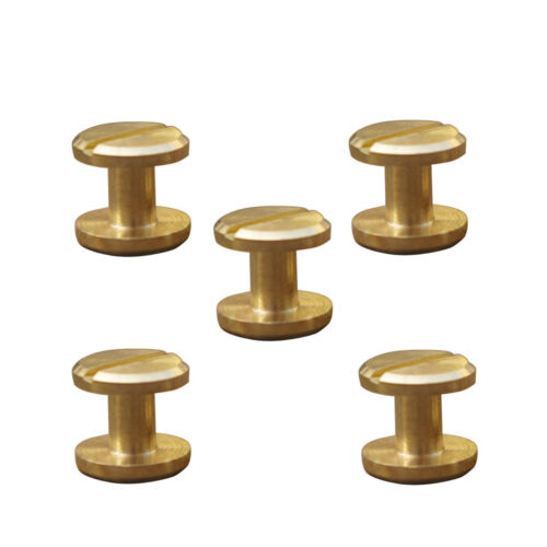 5//10pcs 4-10mm Useful Craft Belt Wallet Solid Brass Nail Rivets Chicago Screws