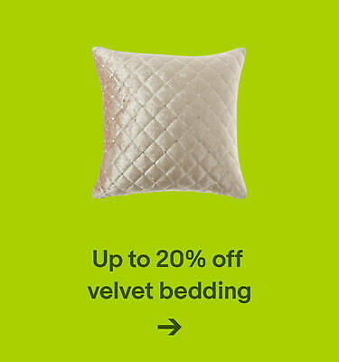 Up to 20% off velvet bedding