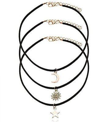 Fashion Women Charm Chain Pendant Crystal Bib Statement Collar Choker Necklace