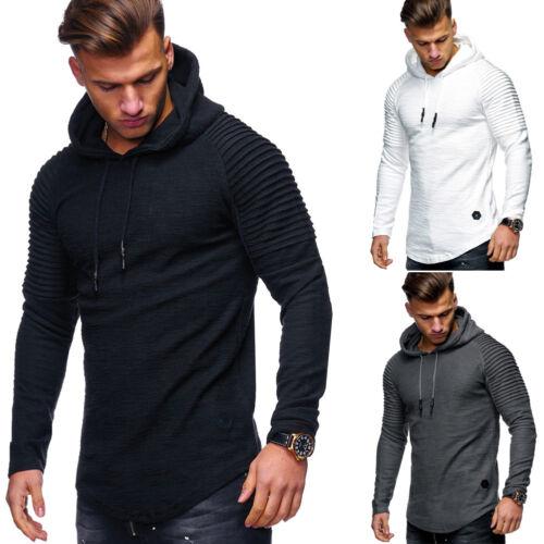 MT Styles Hoodie Henley Pullover Troyer Kapuzenpullover Grau//Schwarz//Weiß NEU