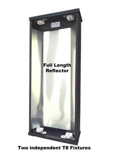 Reptile Light Double T8 Flourescent Lamp Hood 24 Inch Free Shipping Ebay
